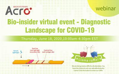 Bio-insider virtual event - Diagnostic Landscape for COVID-19