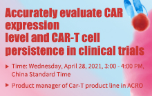 Accurately evaluate CAR expression level and CAR-T cell persistence in clinical trials