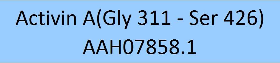 Activin A(Gly 311 - Ser 426) AAH07858.1